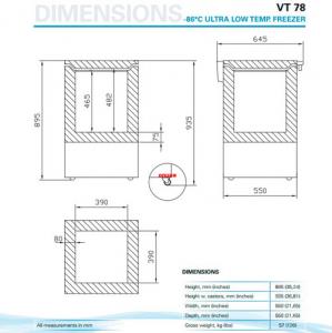 Низкотемпературный морозильник VESTFROST Solutions VT 078
