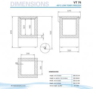 Низкотемпературный морозильник VESTFROST Solutions VT 75