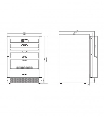 Винный шкаф VESTFROST Solutions W 45