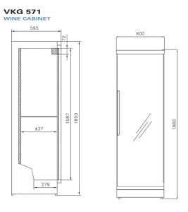 Монотемпературный винный шкаф VESTFROST Solutions VKG 571